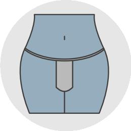Ensure Saafkins Period Panty is centered to avoid leaks